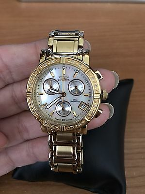 Invicta Wildflower Model 4720 Women's Watch Gold Pre-owned