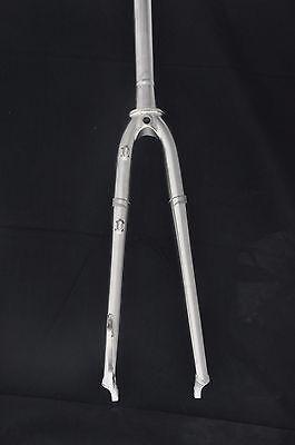 """RIKULAU 700C Lug Chromoly Steel Road Fork 1/"""" Straight Leg"""