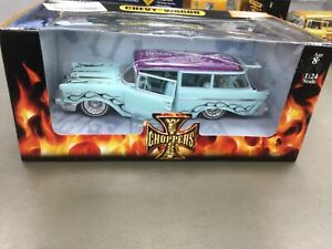 JESSE JAMES WEST COAST CHOPPERS 1/24 SCALE CHEVY WAGON SEALED IN CASE