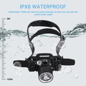 4000Lm XML T6 L2 LED Diver Diving Flashlight Torch Light Waterproof RLTS