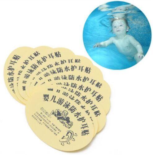 30pcs Newborn Baby Bath Swimming Waterproof Ear Stickers Waterproof Earplugs New