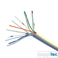 10M OF GENUINE WHITE BT TELEPHONE CABLE CW1308 3 PAIR 6 CORE FOR INTERNAL USE