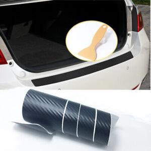 3D Carbon Fiber Look Cover Anti Scratch Sticker For Car Rear Bumper Protector