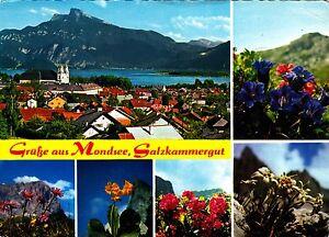 Grüße aus Mondsee , Salzkammergut , Ansichtskarte , gelaufen - Schwerin, Deutschland - Grüße aus Mondsee , Salzkammergut , Ansichtskarte , gelaufen - Schwerin, Deutschland
