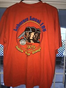 Vintage-Union-Local-185-Graphic-Tee-2-Sided-USA-Made-Shirt-Men-Xl-Laborers