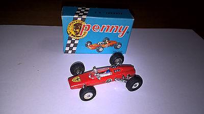 Bello Politoys Serie Penny F1 Art.0/4 Ferrari 6v F1 Con Scatola Originale Piccola..