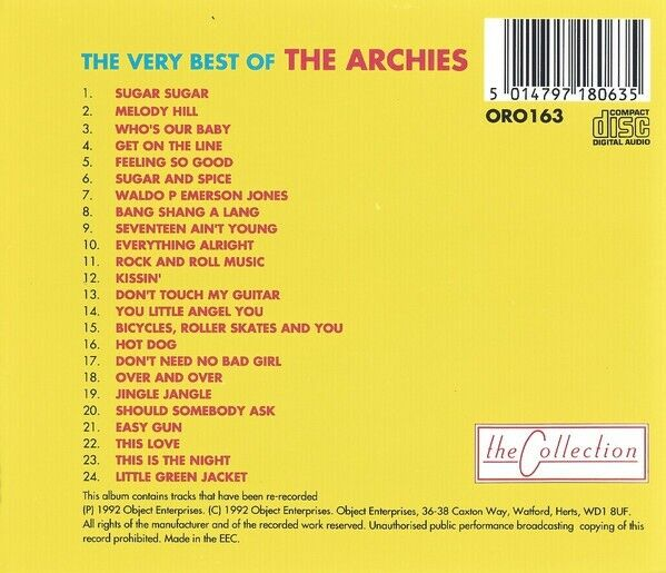 The Archies: The very best of, pop
