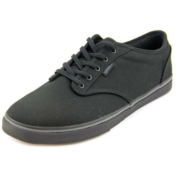 2796f2196ee6 VANS Atwood Low Black Womens Canvas Trainers Shoes 6 UK 39 EU 8.5 US ...