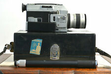 Canon Super 8 auto 7.5 - 60mm zoom 814 movie camera with case, chest pod, manual