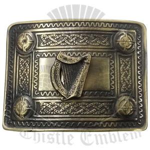 70f2a6fee31a Pour Hommes Irlandais Harpe Boucle Ceinture Finition Antique   de ...