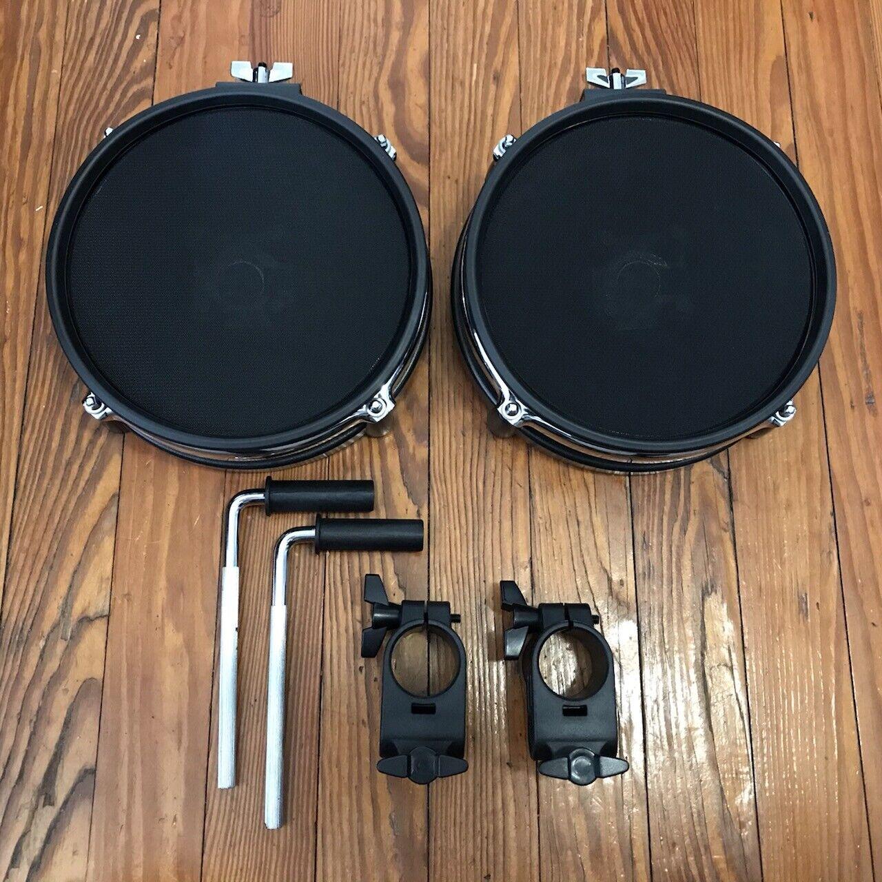 Lot of 2 Alesis 8  Mesh Drum Pads Dual Zone Surge (Mounts Optional) Kit Snare