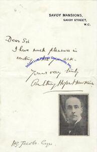 Anthony-Hope-Hawkins-signed-note-English-author-of-Prisoner-of-Zenda