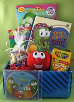 Veggie Tales Silly Songs Personalized Cd & Gift Basket