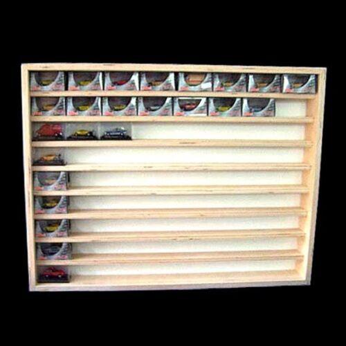 V08 VETRINA SCAFFALE mettiti riquadro Maisto modellini di auto da collezione vetrina vetrina legno