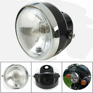 6Inch Front Motorcycle Headlight 15W Lamp for Harley suzuki BMW Cafe Racer New