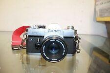 Vintage Canon FTb QL Film Camera with FD 50mm 1:1.8 Lens VTG