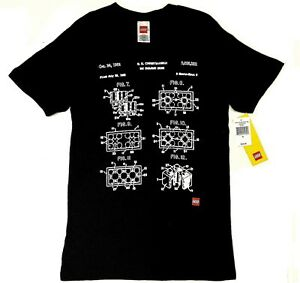 Lego-TOY-BUILDING-BLOCK-PATENT-BLUEPRINT-T-Shirt-NWT-Licensed-amp-Official