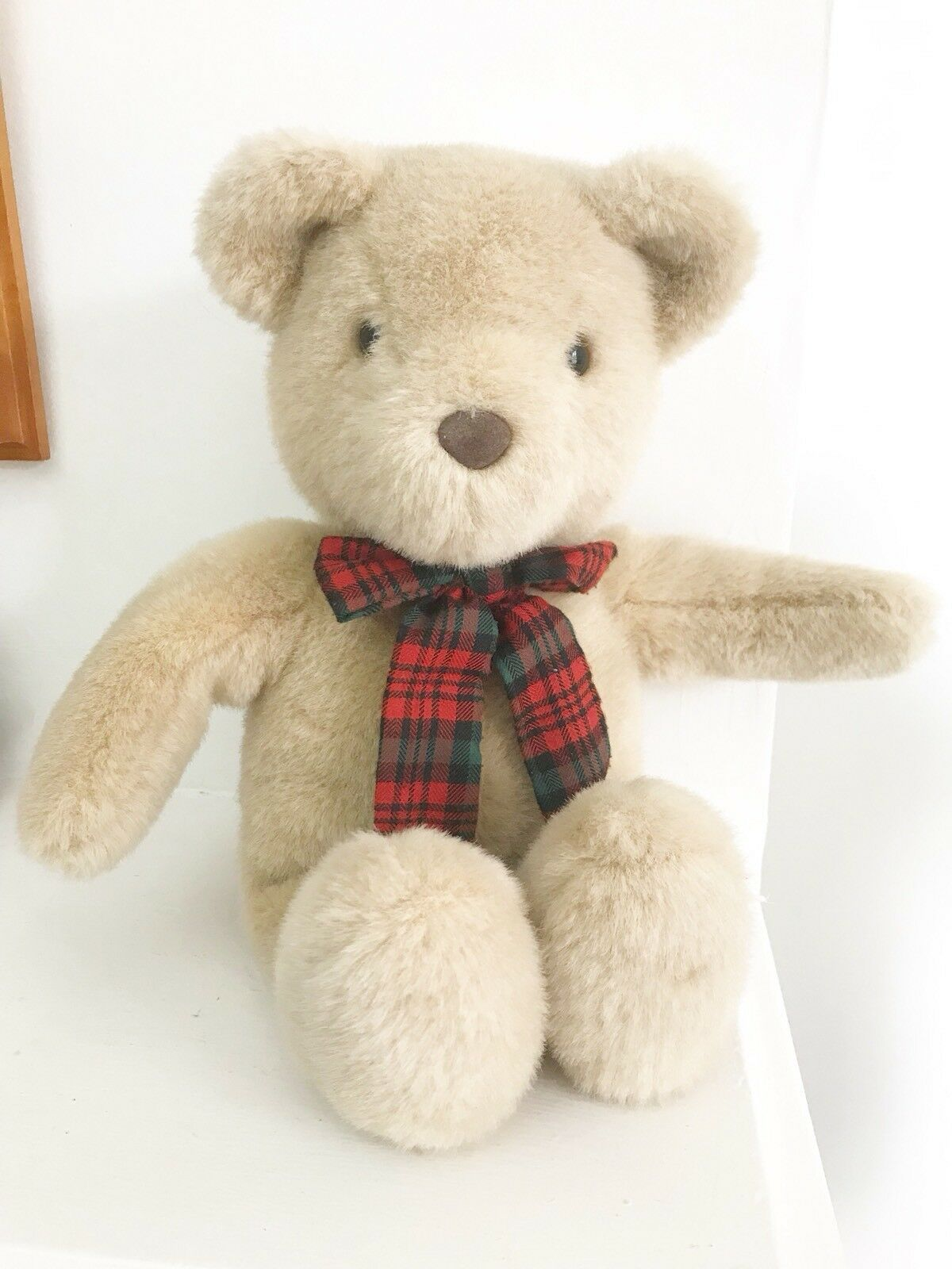 TOP TOP TOP TOYS Teddy Bear With Tartan Ribbon bf3c2b
