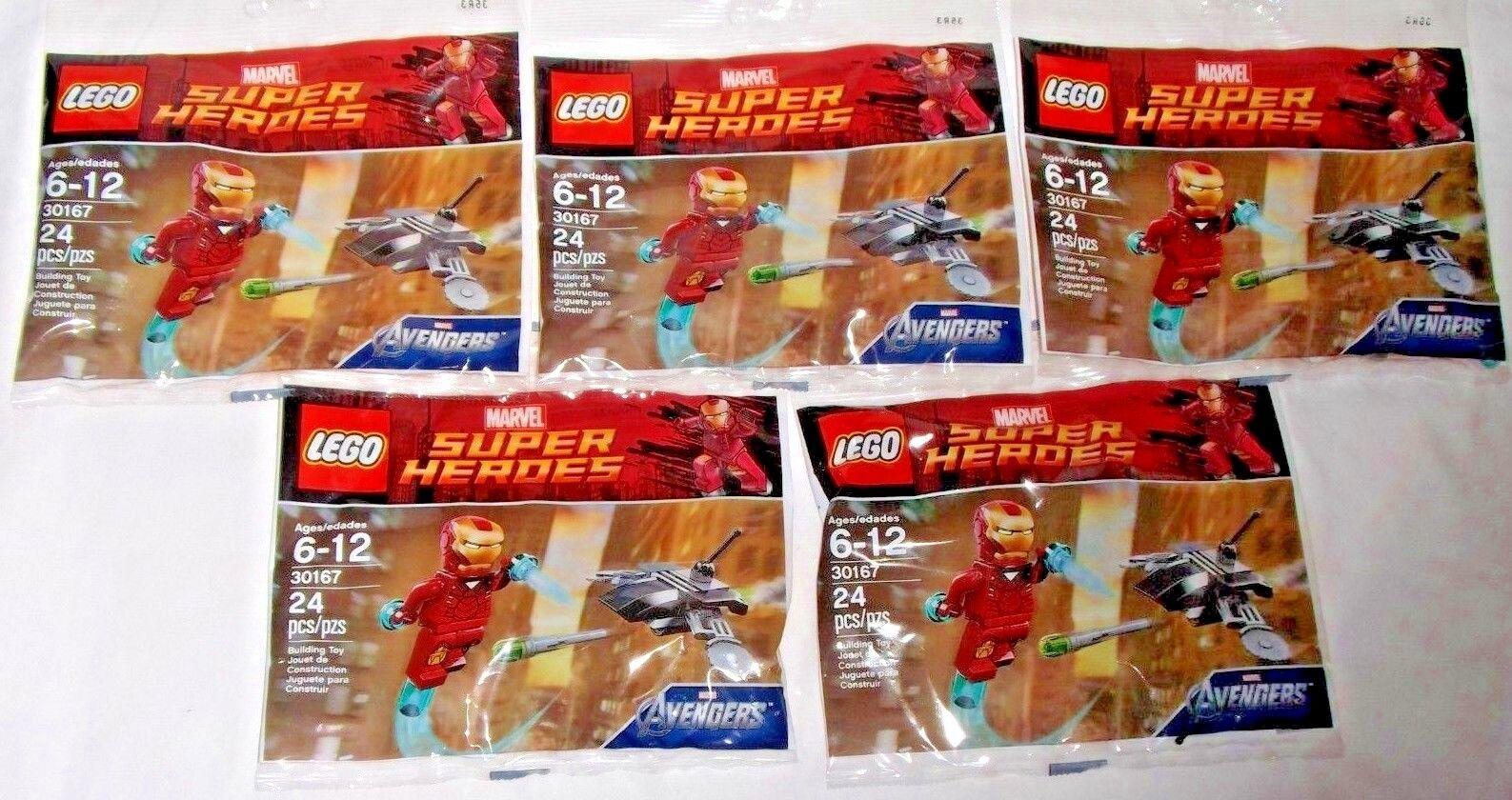 LEGO sealed PROMO POLYBAG Baggie set lot x5 30167 MARVEL Iron Man Fighting Drone