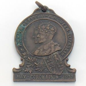 1937-Long-May-They-Reign-Coronation-King-George-VI-Queen-Elizabeth-Pendant-I486