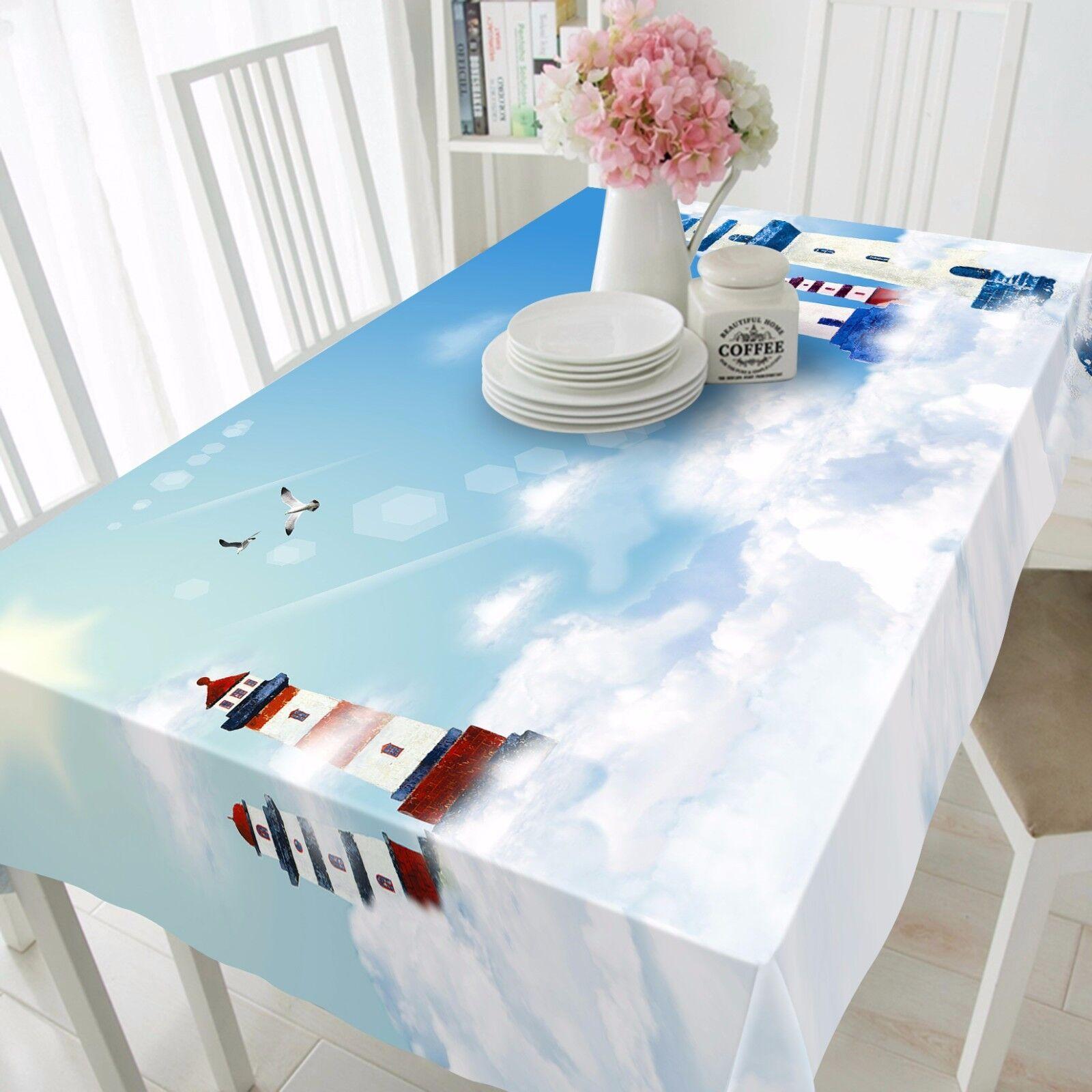 3D SKY TOWER 8 Nappe Table Cover Cloth Fête D'Anniversaire événement AJ papier peint UK