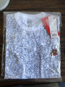Japan-Uniqlo-Nintendo-Super-Mario-White-Short-Sleeve-T-Shirt-NWT-M-OOS-NEW-RARE