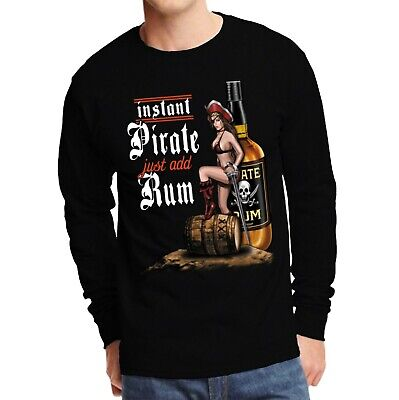 Velocitee Ladies T-Shirt Instant Pirate Holiday Funny Rum Drinking Pin Up W13437