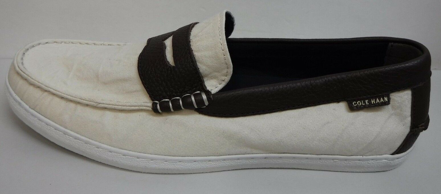 Cole Haan Grand OS Size Size Size 9.5 Cream White Brown Loafers New Uomo Shoes b84148