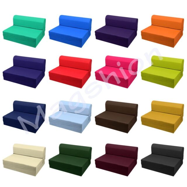 Sleeper Chair Folding Foam Bed/Mattress/Floor/Ottoman Seat Single, Twin, Full