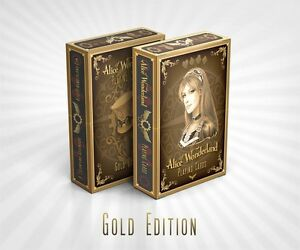 Alice-of-Wonderland-Playing-Cards-Deck-Gold-Edition-Brand-New