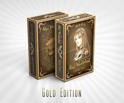 Alice of Wonderland Playing Cards Deck - Gold Edition Brand New