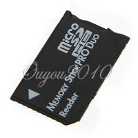 Micro SD SDHC TF to Memory Stick MS Pro Duo PSP Card 1 Slot Adapter Converter