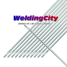 "WeldingCity 2-Lb ER4043 Aluminum 4043 TIG Welding Filler Rod 1/8""x36""   2-Lb"