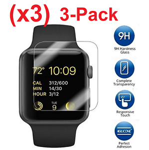 3pk Tempered Glass Screen Protector For Apple Watch Series 3 38mm 42mm Lot Ebay