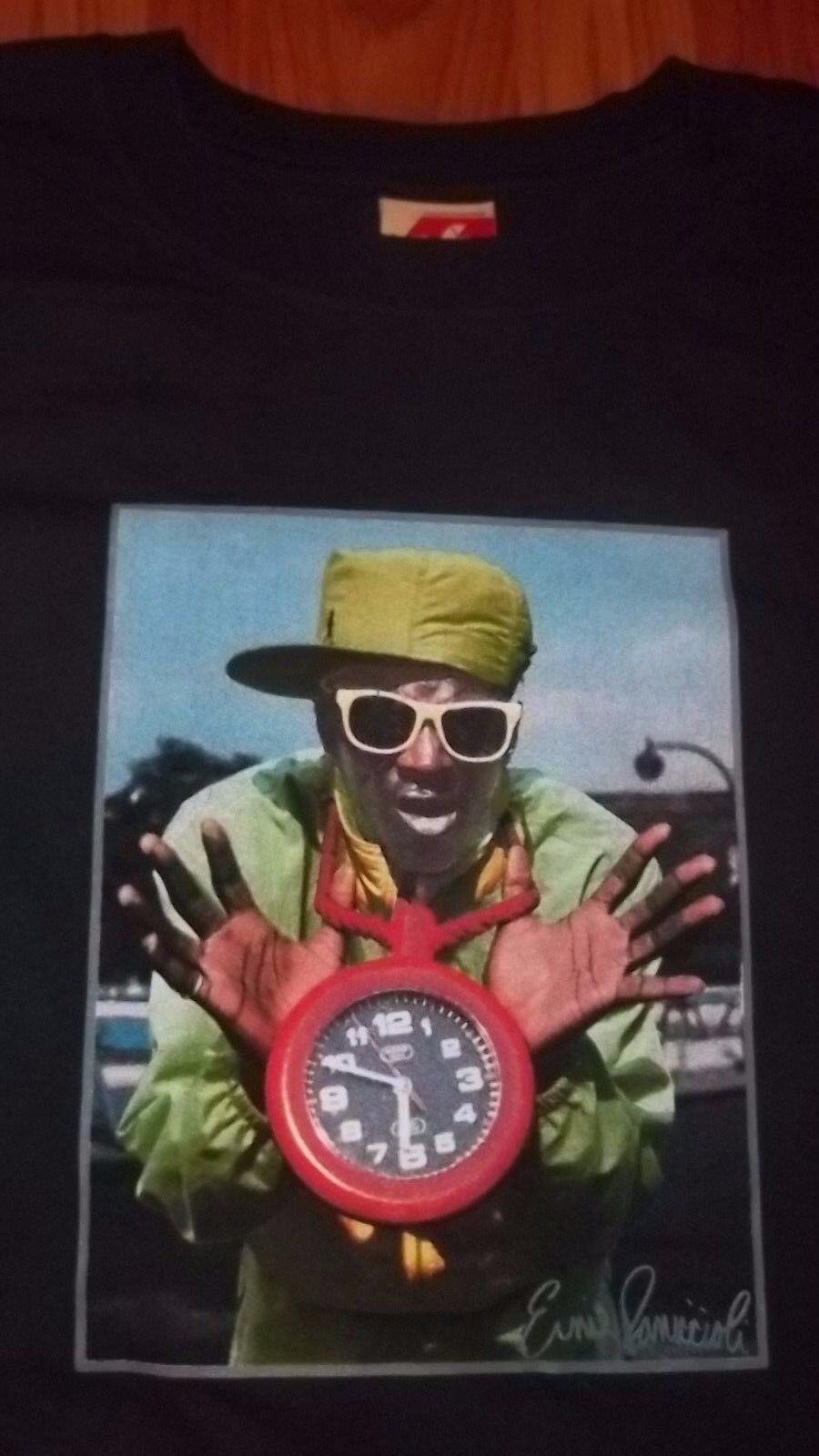 2XL Rap HIP HOP Photographer Ernie Paniccioli FLAVOR FLAV Shirt PUBLIC ENEMY