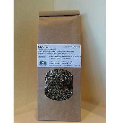 Naturopathic Blend, Herbal Medicine YEP Tea (Yarrow, Elder & Peppermint) 50g