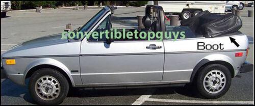 VOLKSWAGEN  VW RABBIT /& CABRIOLET CONVERTIBLE TOP BOOT 1987-94
