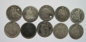 Liberty-Seated-Dime-Starter-Collection-10-Different