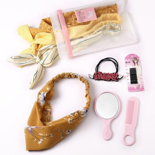1 Set Baby Headband Turban Elastic Rubber Hair Band Hairpins With Mirror Comb