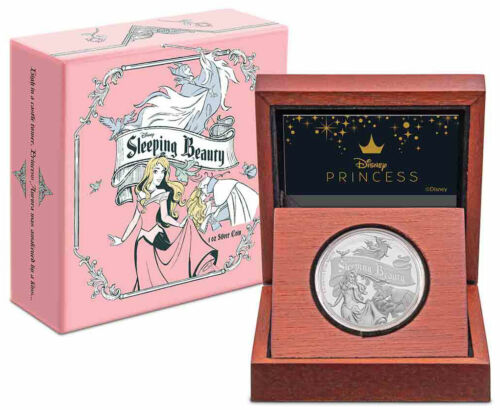 2019 Niue Disney Classics Sleeping Beauty 60th 1oz Silver Proof $2 Coin SKU56952