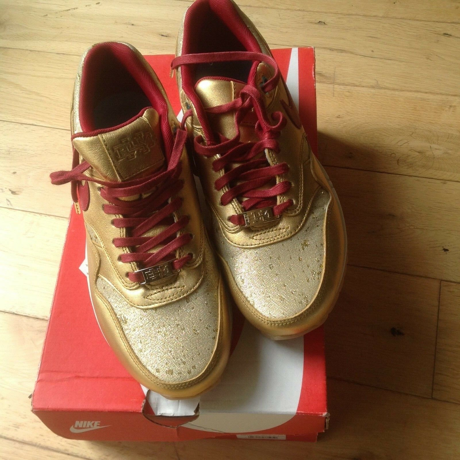 LADIES AIR MAX 1 METALLIC Gold Größe 5.5. -BRAND NEW IN BOX