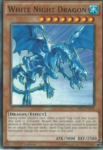 SR02-EN011-1st EDITION WHITE NIGHT DRAGON YU-GI-OH