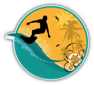 Newport Beach Decal Surfing Surf Beach Bumper Sticker