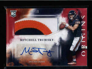 MITCHELL-TRUBISKY-2017-PANINI-ORIGINS-RED-ROOKIE-3-COLOR-PATCH-AUTO-99-FC2062