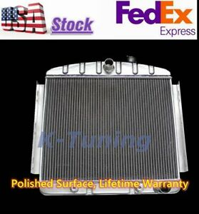 Aluminum Radiator For 1955 1956 CHEVY BELAIR BEL AIR 6CYL CORE  3 ROWS CC5056