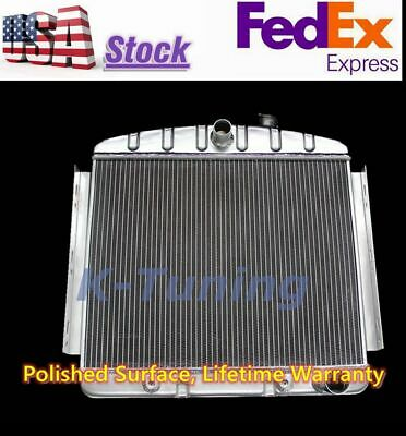 3 Row Aluminum Radiator Fit 1955 1956 1957 Chevy Bel Air 6 CYL Support Only