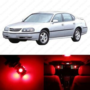 12 X Red Led Interior Light Package For 2000 2005 Chevrolet Chevy Impala Ebay