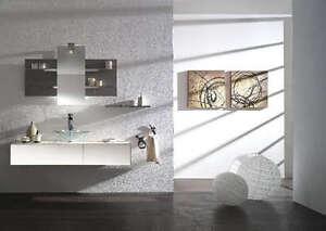 Mobile bagno arredo bagno completo pensile bianco 140cm lavabo specchio mensole ebay - Pensile bagno specchio ...