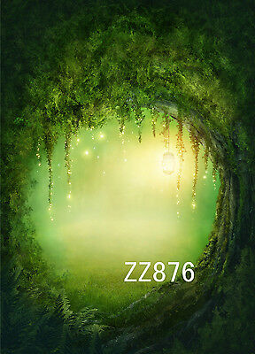 3X5FT Vinyl Studio Backdrop Photography Fairy Tale Forest Photo Background ZZ876