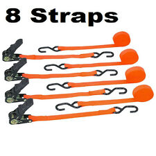 8 Cargo Straps Tie Down Ratcheting Ratchet 1 In. X 15 Ft.